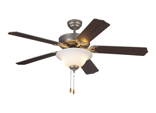 """52"""" Homeowner's Deluxe Fan - Brushed Pewter"""