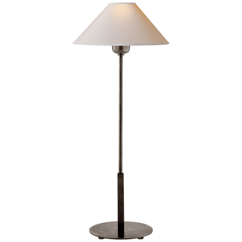 Hackney Table Lamp in Bronze with Natural Paper Shade