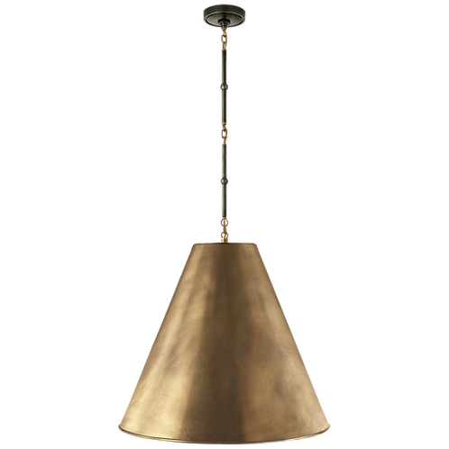 Goodman Large Hanging Lamp in Bronze and Hand-Rubbed Antique Brass & Hand-Brass