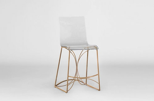 """Angela 24.75"""" Counter Height Stool - Gold"""