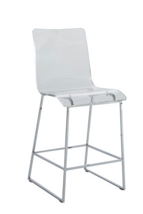 """King 24.75"""" Counter Height Stool - Chrome"""