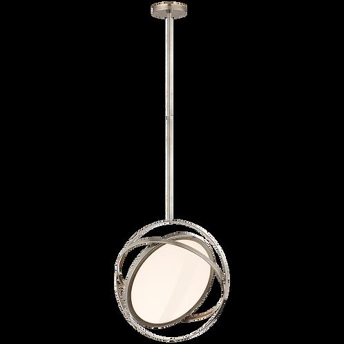 "Orbit 16"" Swiveling Pendant in Antique Nickel"