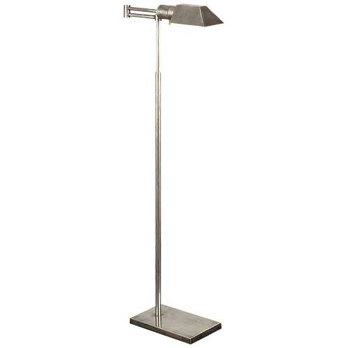 Studio Swing Arm Floor Lamp in Antique Nickel