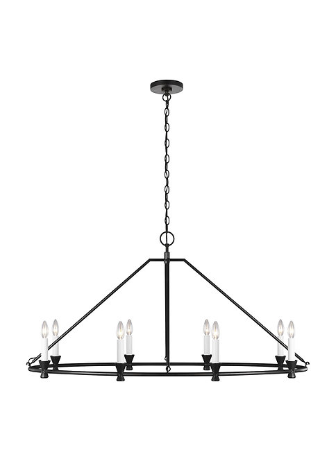 8 - Light Oval Chandelier