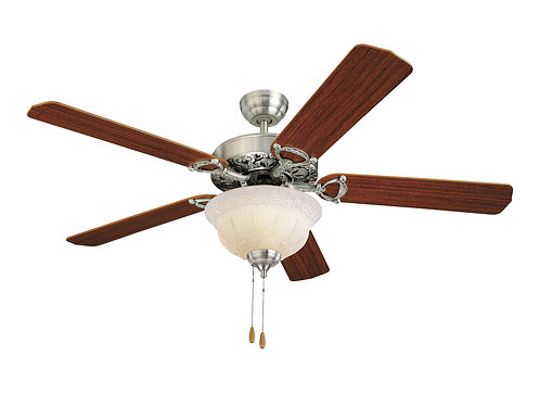 "52"" Ornate Elite Fan - English Pewter"