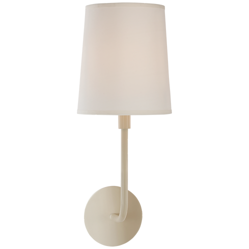 Go Lightly Sconce in China White with Silk Shade