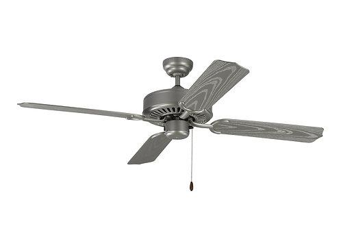 """52"""" Tucker Outdoor Fan - Painted Brushed Steel"""