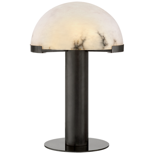 Melange Table Lamp in Bronze with Alabaster