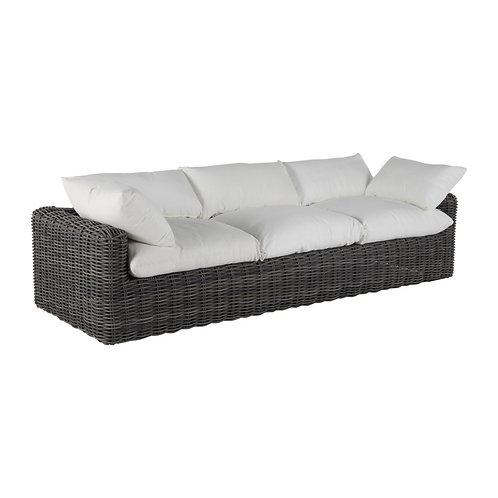 Montecito Woven Sofa - Slate Grey