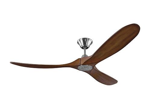 """60"""" Maverick - Brushed Steel with Koa Blades"""
