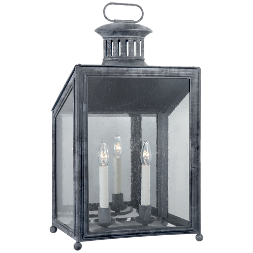 Mills Medium Wall Lantern in Garden Zinc with Restoration Glass