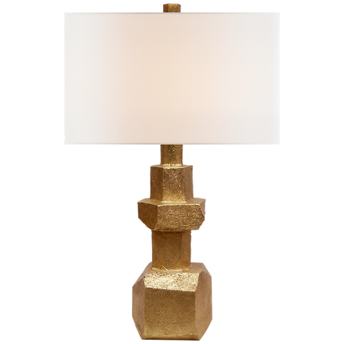 Vienne Medium Table Lamp in Gild with Linen Shade
