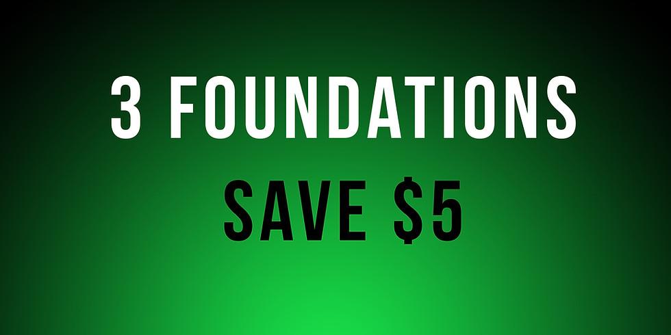 Jan 4th: Bulk Class Discount (3) - Foundations $100