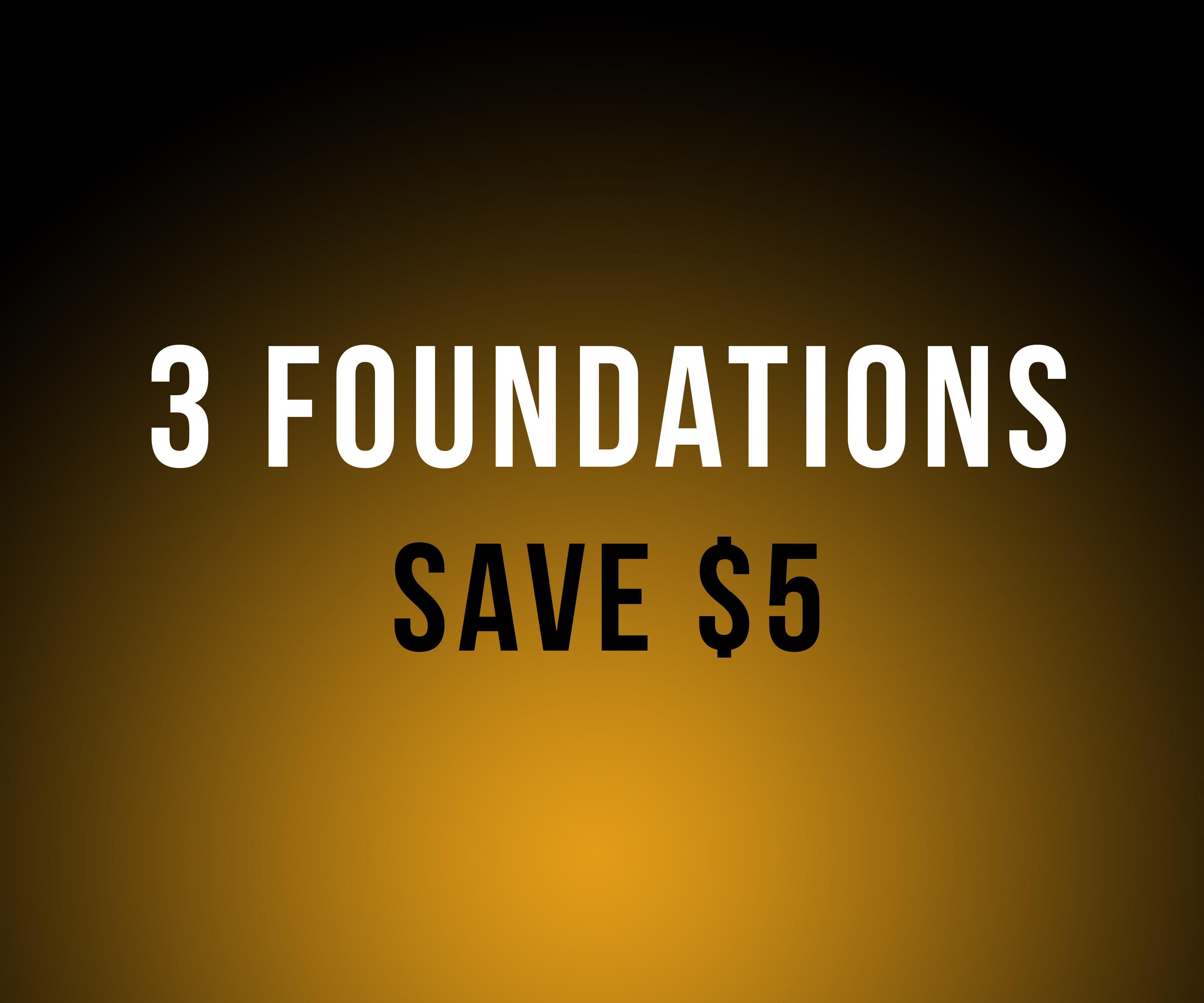 Nov - All 3 Foundation Classes - Save $5