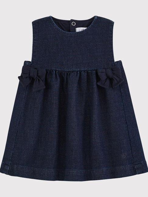 Petit Bateau Denim Pinafore Dress