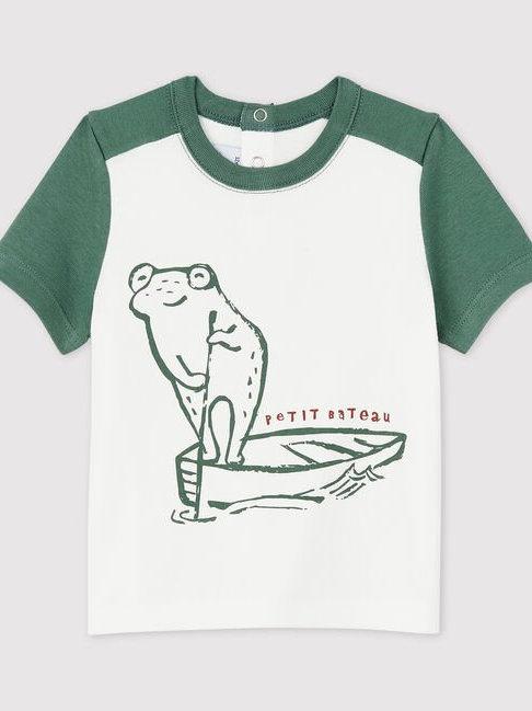 Petit Bateau Frog Short-Sleeved Cotton T-Shirt