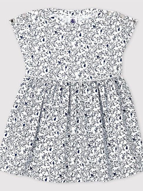 Petit Bateau Short-Sleeve Poplin Dress