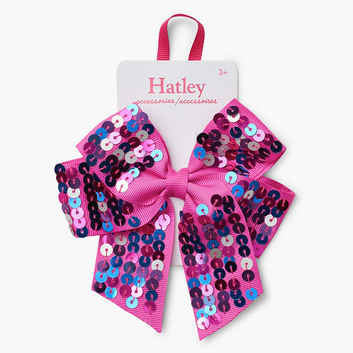 Hatley Pretty Sequined Bow Large Hair Clip