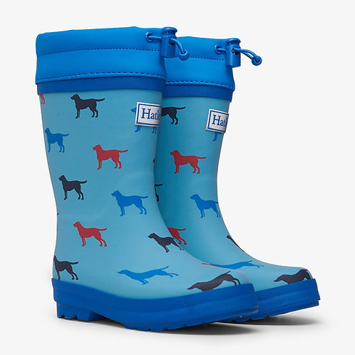 Hatley Friendly Labs Sherpa Lined Welly Boots