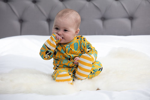 Piccalilly Panda Sleepsuit