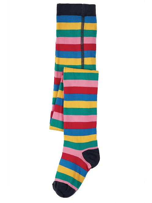 Frugi Tamsyn Tights, Rainbow Stripe