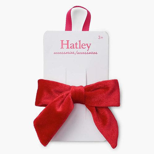 Hatley Red Velvet Bow Hair Clip
