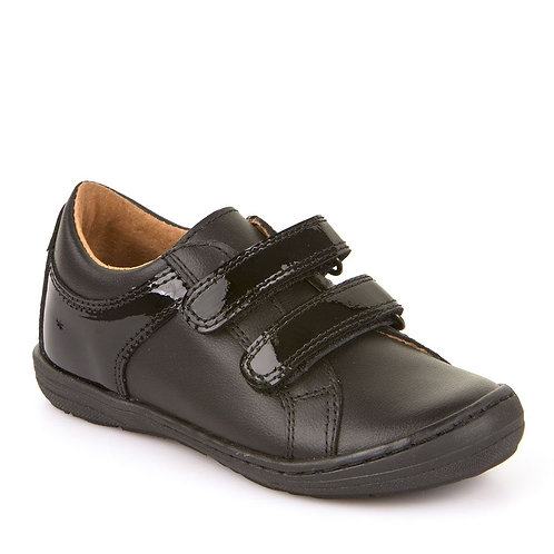 Froddo Black Leather School Shoe G3130090