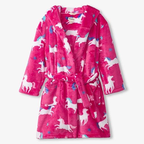 Hatley Twinle Unicorns Fleece Dressing Gown