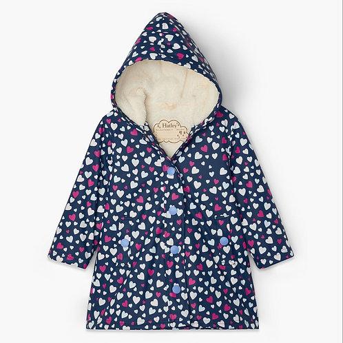 Hatley Confetti Hearts Sherpa Lined Colour Change Splash Jacket