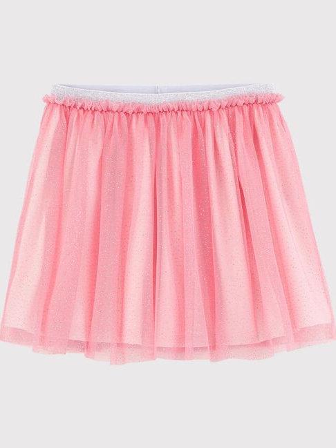 Petit Bateau Girl's Glittery Tulle Skirt