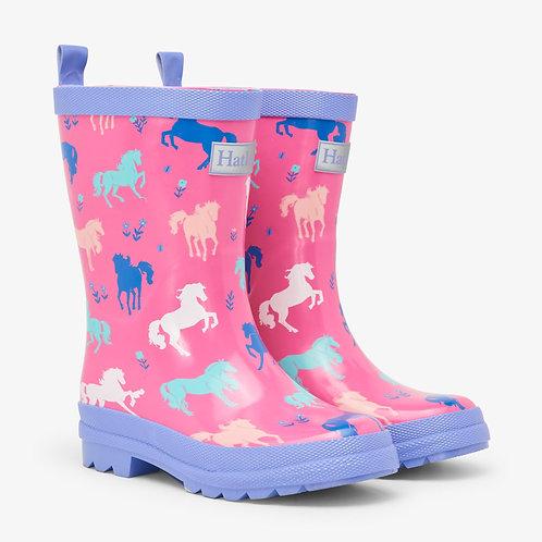 Hatley Painted Pasture Shiny Rain Boots