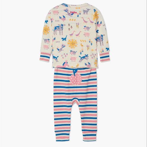 Hatley Retro Farm Organic Pyjama Set