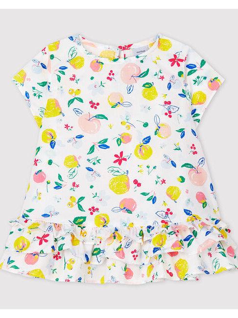Petit Bateau Baby Girls' Short-Sleeved Poplin Blouse