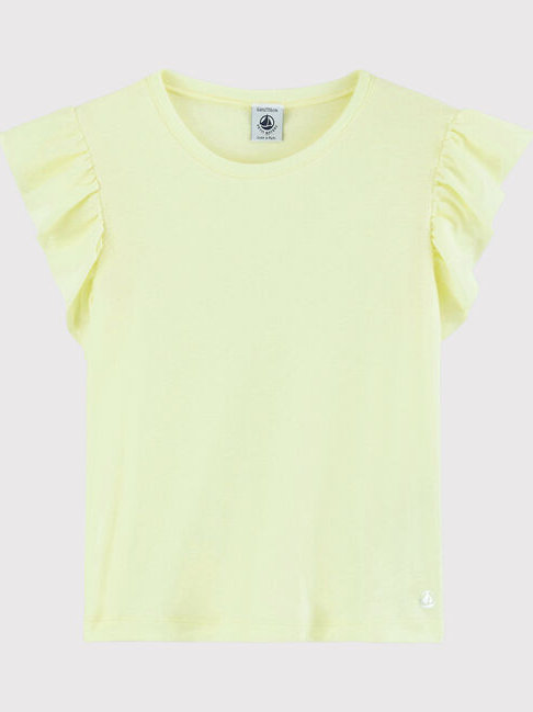 Petit Bateau Yellow Short -Sleeved  Cotton T-Shirt