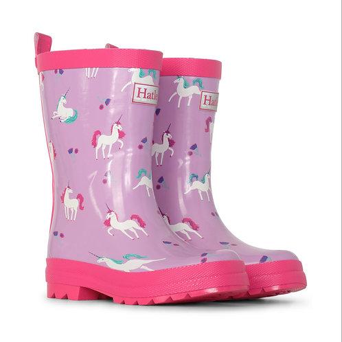 Hatley Playful Unicorns Shiny Welly Boot