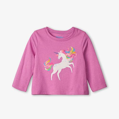 Hatley Prancing Unicorn Long Sleeve Baby Tee