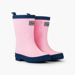Hatley Pink and Navy Welly Boots