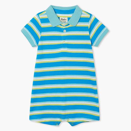 Hatley Sea Stripes Baby Polo Romper