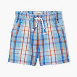 Hatley Blue Plaid Baby Woven Shorts