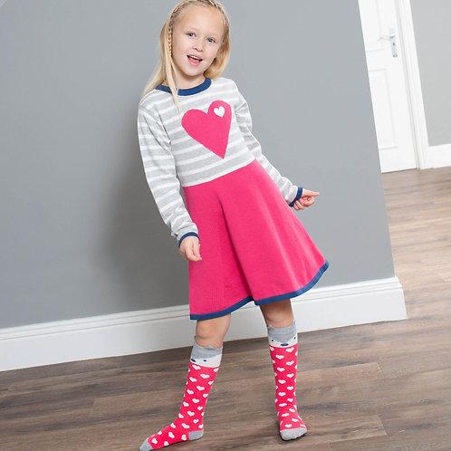 Kite Heart Knit Dress