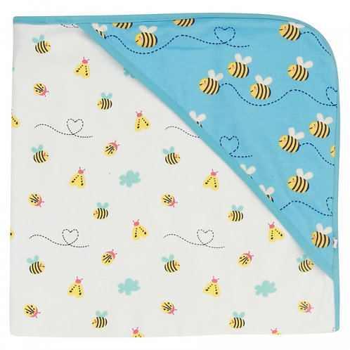 Piccalilly Bumblebee Hooded Baby Blanket
