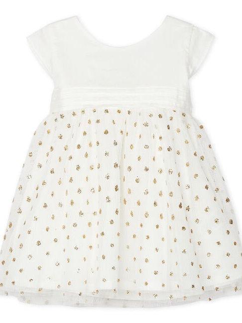 Petit Bateau Baby Girls' Sparkly Party Dress