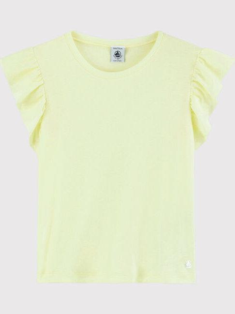 Petit Bateau Yellow Short-Sleeve Cotton T-Shirt