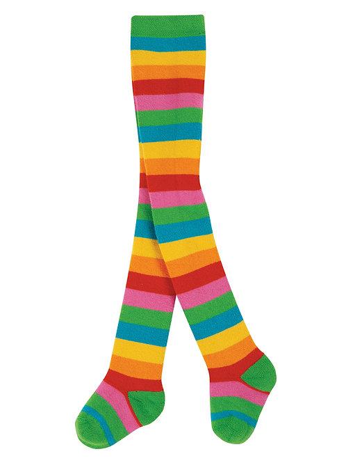 Frugi Toasty Tights Rainbow Multistripe