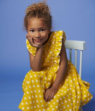 Petit Bateau Yellow Linen Dress