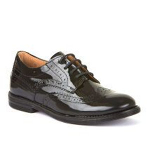 Froddo Black Patent Leather Brogue Lace-up G4130071-1