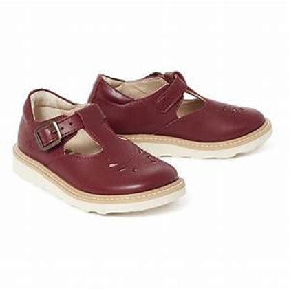 Young Soles Rosie Vegan Synthetic T Bar Shoe Cherry