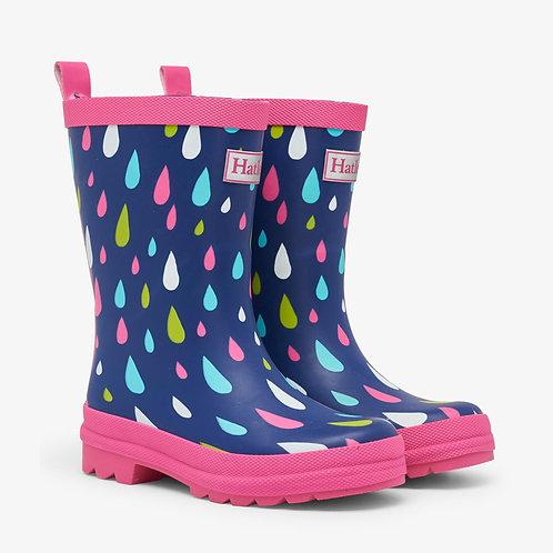 Hatley Rain Drops Matte Welly Boots