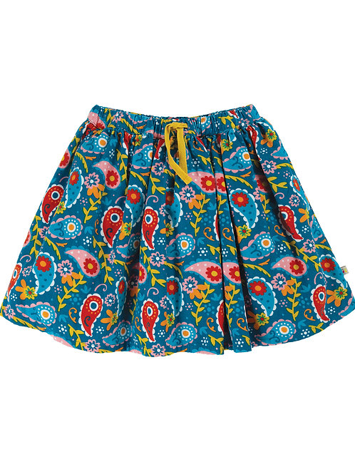 Frugi Lizzie Cord Skirt Pixie Paisley