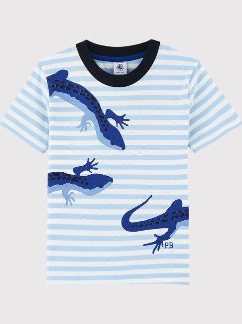 Petit Bateau Short-Sleeved Lizard Jersey T-Shirt
